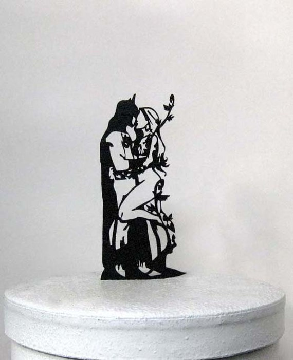 Wedding Cake Topper Batman And Poison Ivy Silhouette Cake