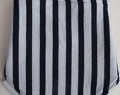 50% OFF Neck Warmer, Kids' Winter Neckwarmer - Fleece & Jersey, adjustable scarf, velcro-fastening, blue fleece, navy/grey striped jersey