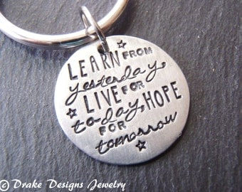 Quote keychain graduation gift for him inspirational gift for graduate
