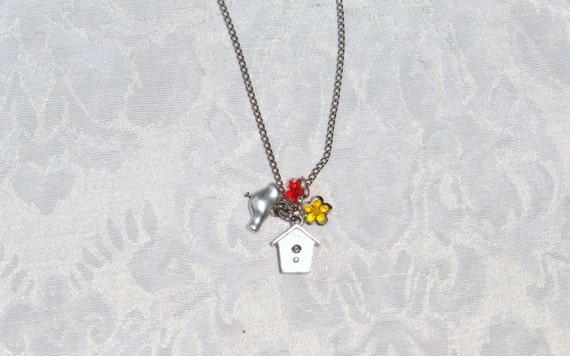 Birdie House Necklace / women's jewelry / jewelry / teens / girls / bird / women