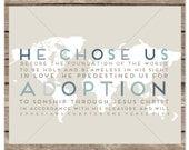 He Chose Us for Adoption (Ephesians 1:4-5) World