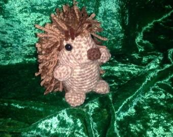 "Crocheted Miniature ""Lil' Bro"" Hedgehog"