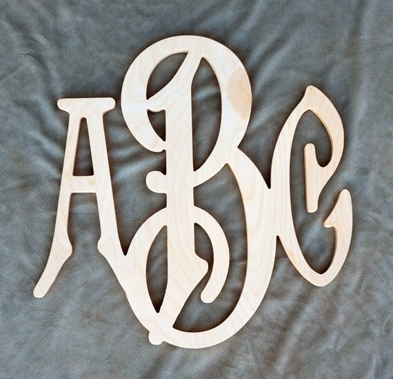 36 inch large 3 initials wooden monogram letter for 36 inch wooden letters