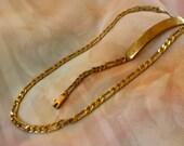 Vintage Necklace, Vintage Bracelet, Metal Link Necklace, Old Jewelry