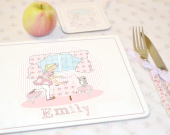 "Personalised Children's Placemat ""Tea party"""