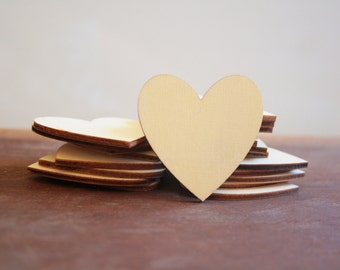 10 Wooden Hearts 50mm / Heart Hang Tags / Mini Wood Hearts / Timber Hearts