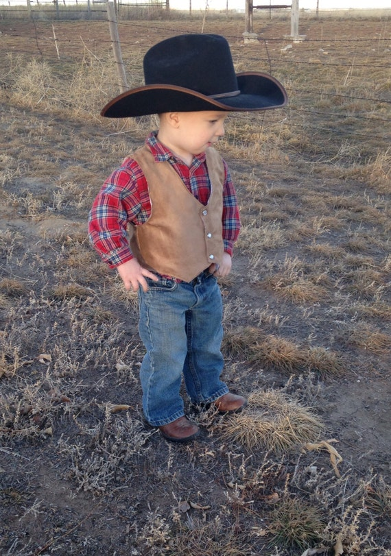 Vest Infant Baby Toddler Western Wedding Cowboy By