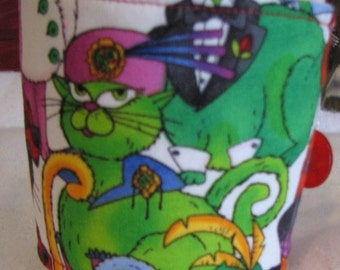 Well Dressed Cats Fabric Mug Cosy