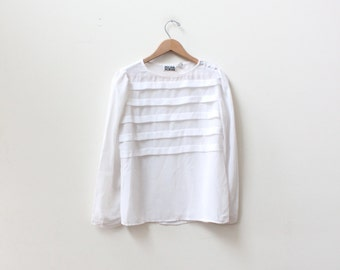 Minimal White Panel Blouse