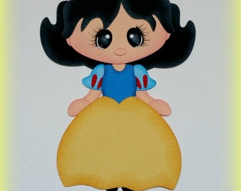 Elite4u Mindy Princess Snow White Premade paper piecing for scrapbook page embellishment