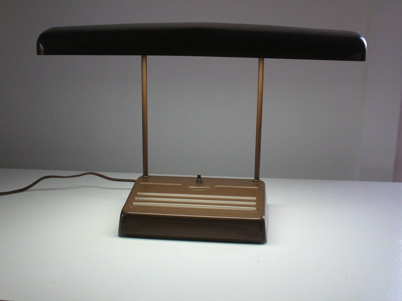 vintage industrial metal desk lamp 1950s by oldstufflove. Black Bedroom Furniture Sets. Home Design Ideas