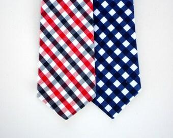 Boys neck tie, navy blue tie for toddlers, blue and red neck tie, baby boy tie, child neck tie, little boy tie, toddler neck tie