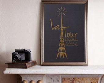 La Tour A3 Screenprint / Crystal Palace screenprint, Crystal Palace Antenna, French Print, South London Poster, TV Transmitter, Eiffel Tower