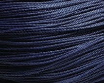 10M 1mm NAVY BLUE Waxed Polyester Cord, macrame cord, Kumihimo Cord, waxed cord, Blue Cord, Vegan jewelry Cord, Friendship Bracelet Cord