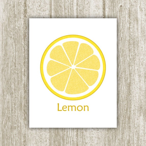 Lemon printable kitchen printable 8x10 instant by for 8x10 kitchen designs