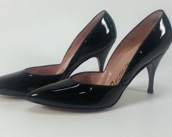 Vintage Patent Black Leather Palizzio Very New York