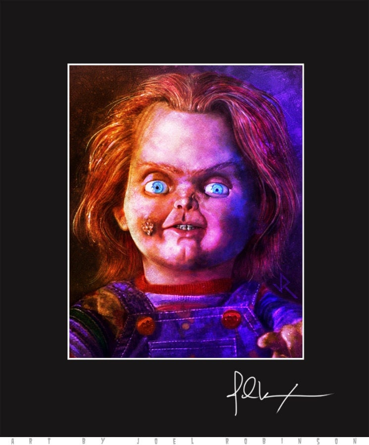 Chucky 11x14 Matted Print Signed By Artist Joel By