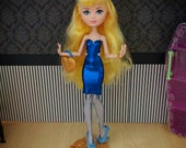 """Blondie's """"True Blue"""" Sheath Dress Fits Ever After High and Monster High - Free US Shipping"""