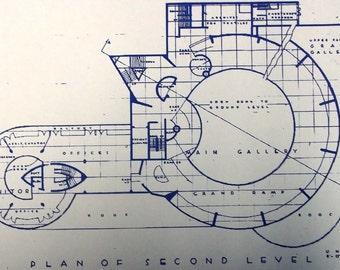 Guggenheim Museum Second Floor Blueprint