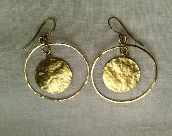 Disk Orbit Earrings