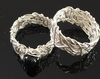 gothic wedding ring etsy