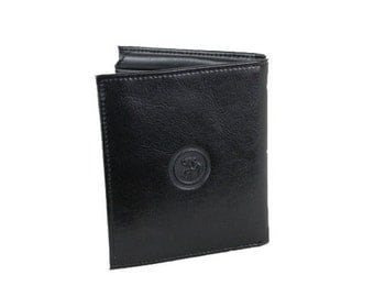 Men's Classic Leather Wallet Large Handmade Trifold (249)