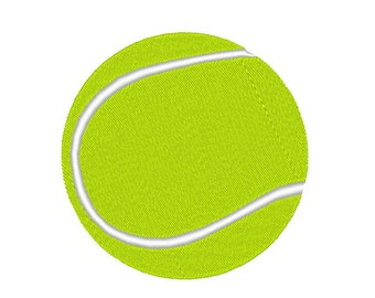 Tennis Ball Embroidery Machine Design
