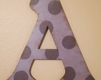 Rustic Polka Dot Wall Letters-Girls Room Decor-Wood letter-Nursery decor-Home Decor-Girls nursery letters