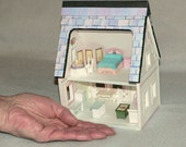 Doll House, Miniature, A Printable Paper Dollhouse in Quarter Scale Instant Download,Mini Furniture  SALE