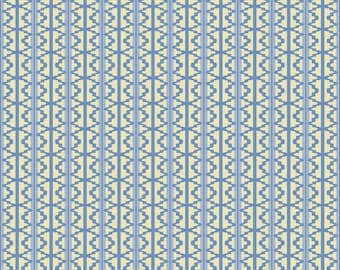Blue and Cream Paper Bead Template