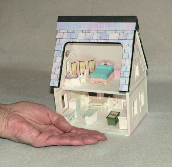 Doll House, La Petite Maison,  Miniatures, Mini Furniture, Quarter Scale, Printable, Dollhouse and furniture, model