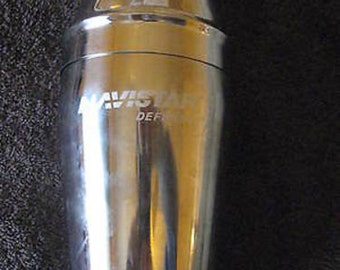 "Stainless Martini Shaker Collectible Vintage ""Navistar Defense"" CL4-14"