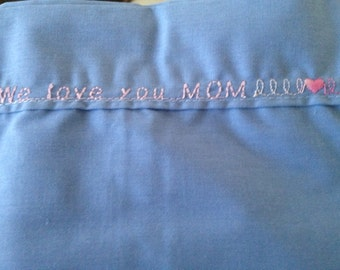 Embroidered Pillowcases for Parents