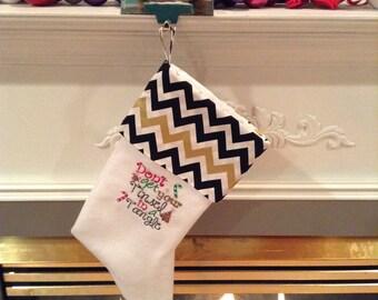Tangled tinsel Christmas stocking