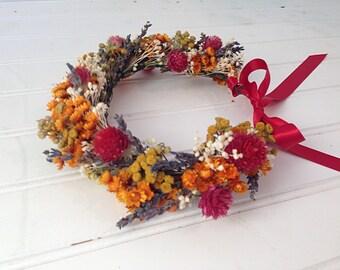 Fall flower girl crown