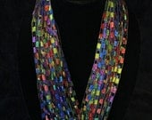 Primary Colors Trellis Yarn Necklace/Scarf