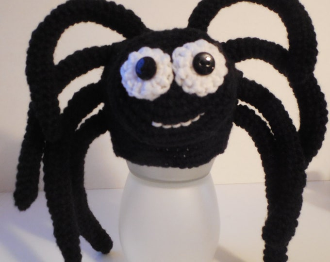 Spider Animal Hat - Halloween Spider Hat - Adult Animal Hat - Handmade Crochet - Adult Spider Hat - Made to Order