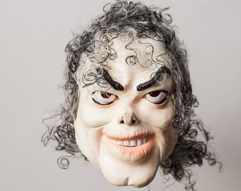 RARE Vintage  Ceasar MICHAEL JACKSON Soft Vinyl Mask. Halloween Costume, Collectible,