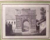"Vintage Prints, ""Trajans Arc Benevento"" Italy Italy Magazine, from Original 16th Century Engravings of Italian Landmarks, Italian History"