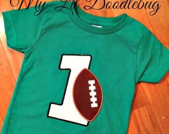 1st Birthday Football Shirt
