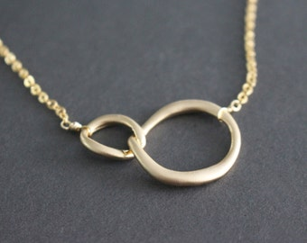 Double link necklace // Gold