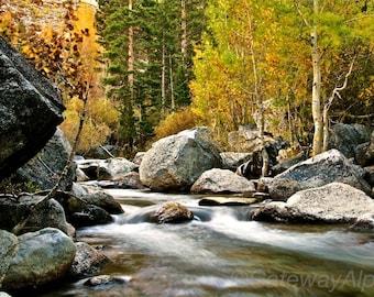 River Digital Print, Digital Download Print, Digital Photography, Landscape Photography, Fall Photograph, Long Exposure Photo, Digital Print