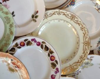 Mismatched Job Lot of 10 Side / Tea  Plates