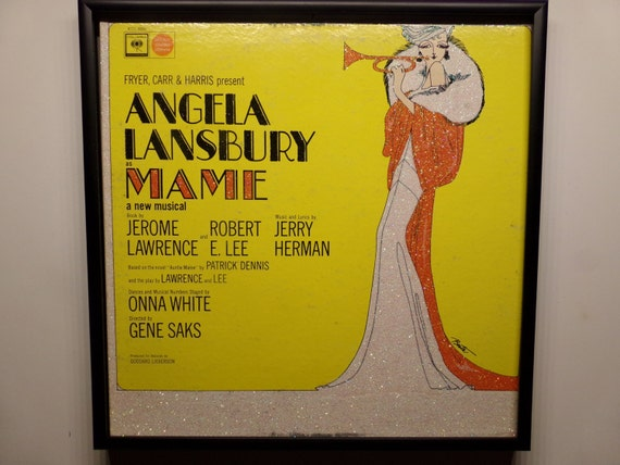 Glittered Record Album - MAME - Angela Lansbury