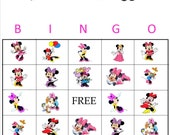 Minnie Mouse Bingo Instant Download