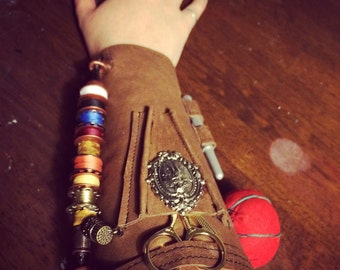 Steampunk tailors gauntlet -made to order