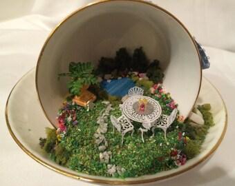 Miniature Inside A Tea Cup