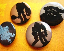 Shadow of the Colossus pin back button set