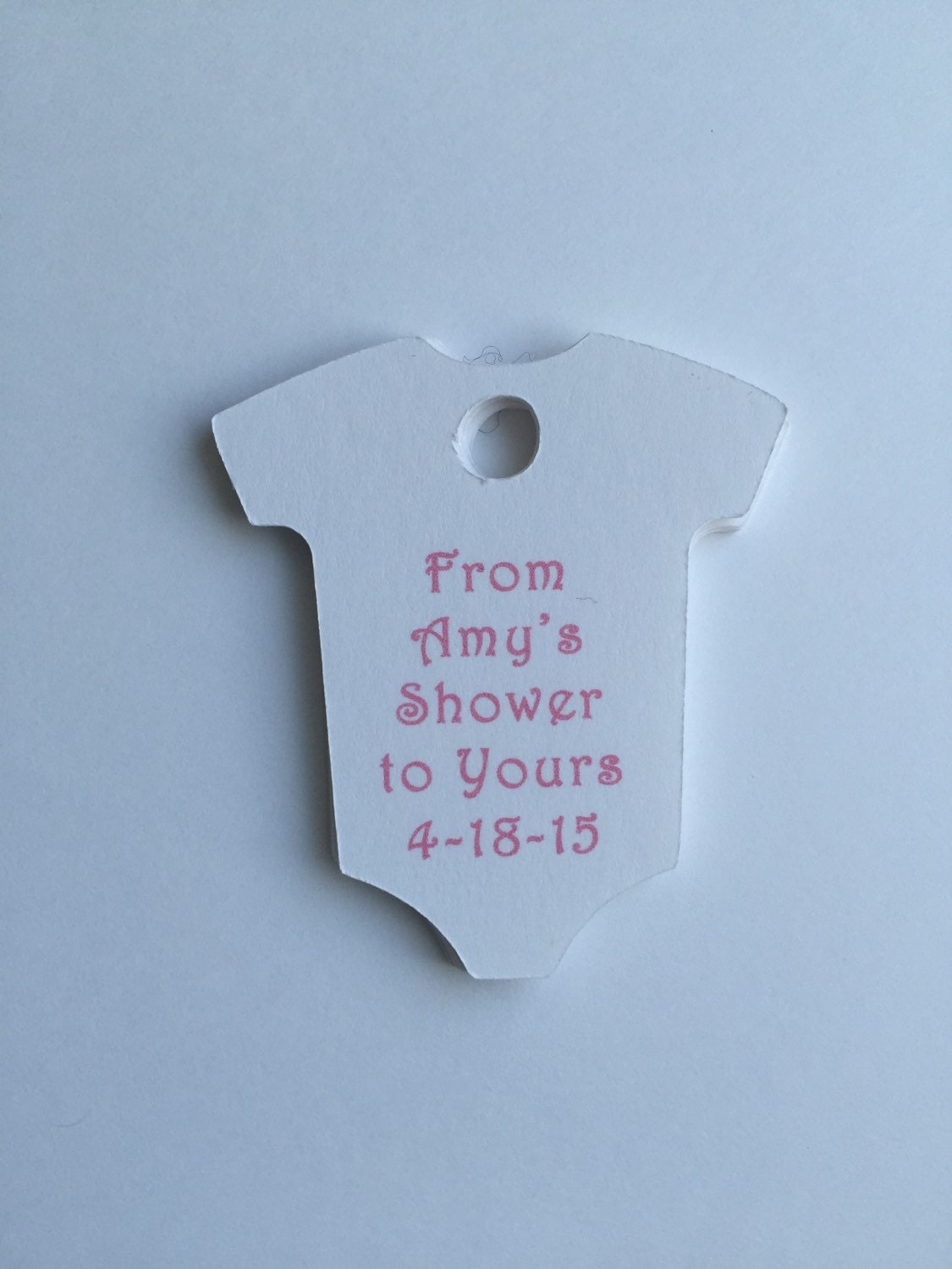 baby shower tags set of 20 personalized tags