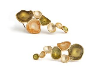 Painted Earrings : Handmade earrings, Sleek, Colorful and beautiful earring design